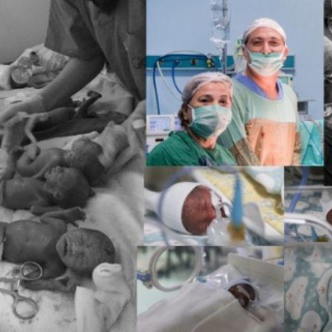 Altız bebekler Özel Yenişehir Hastanesi'nin maskotu oldu
